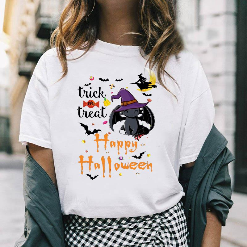 Toothless witch trick or treat happy Halloween shirt