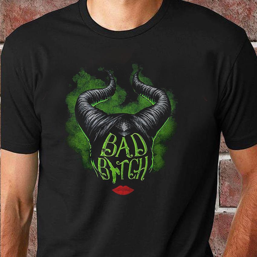 Bad bitch Maleficent art Halloween shirt
