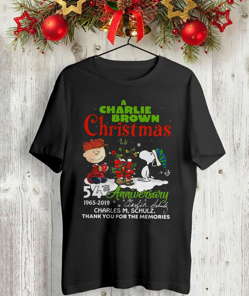 A Charlie Brown Christmas 54th anniversary t-shirt