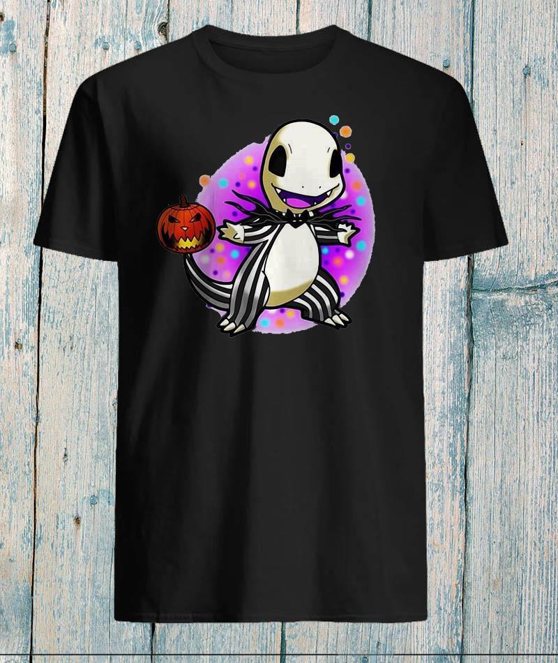 Hitokage Jack Skellington mix pokemon halloween shirt
