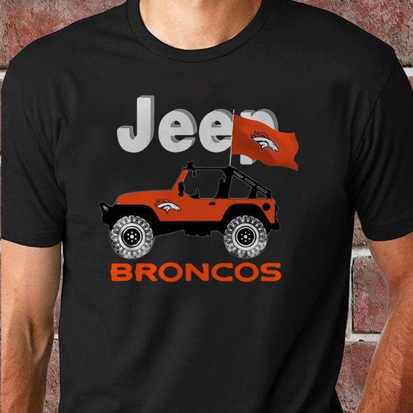 Jeep Denver Broncos flag unisex shirt