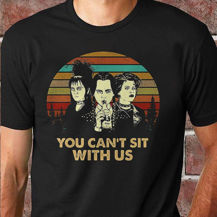 Vintage Wednesday Addams you can't sit with us shirt