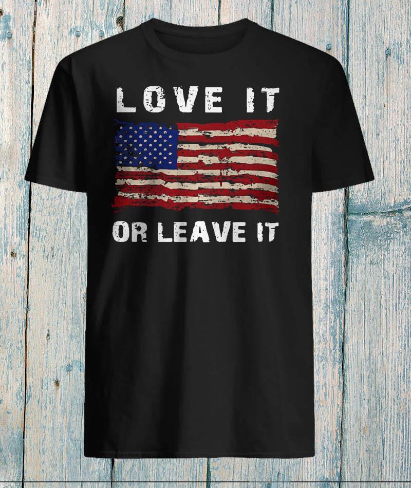 Melania Trump love it or leave it American flag shirt
