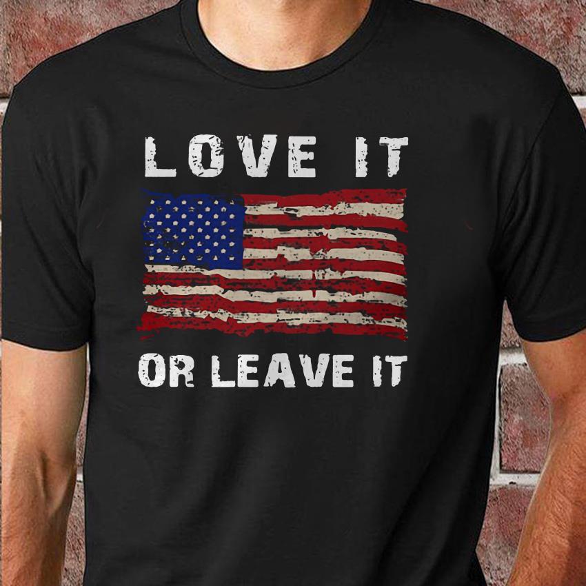 Melania Trump love it or leave it American flag unisex shirt