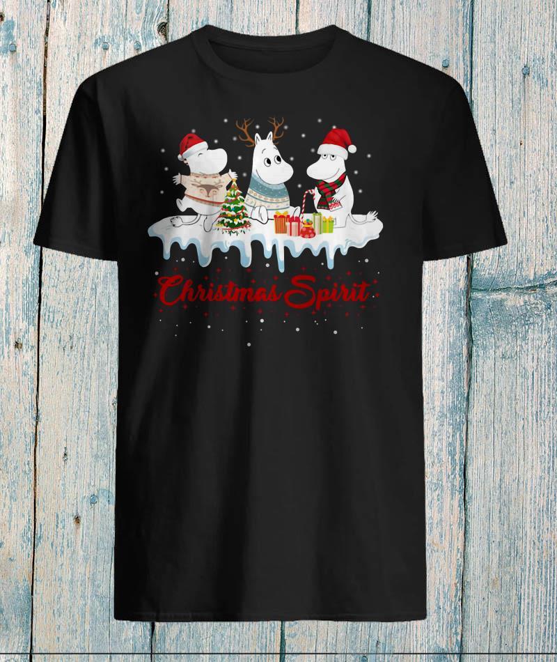 Moomies santa reindeer Christmas spirit t-shirt