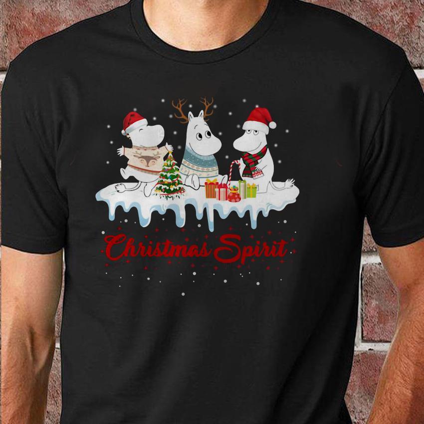 Moomies santa reindeer Christmas spirit unisex shirt
