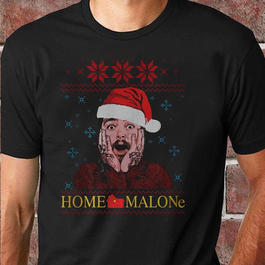 Post Malone scream home Malone ugly Christmas unisex shirt