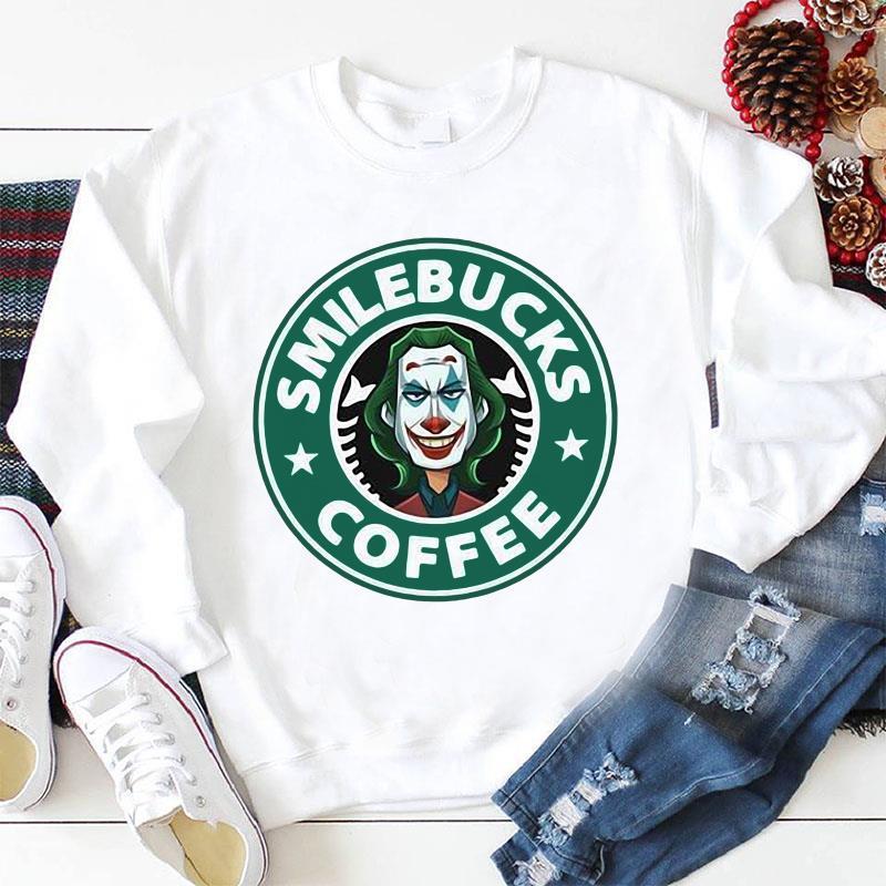 Smile bucks coffee Joker Starbucks longsleeve shirt
