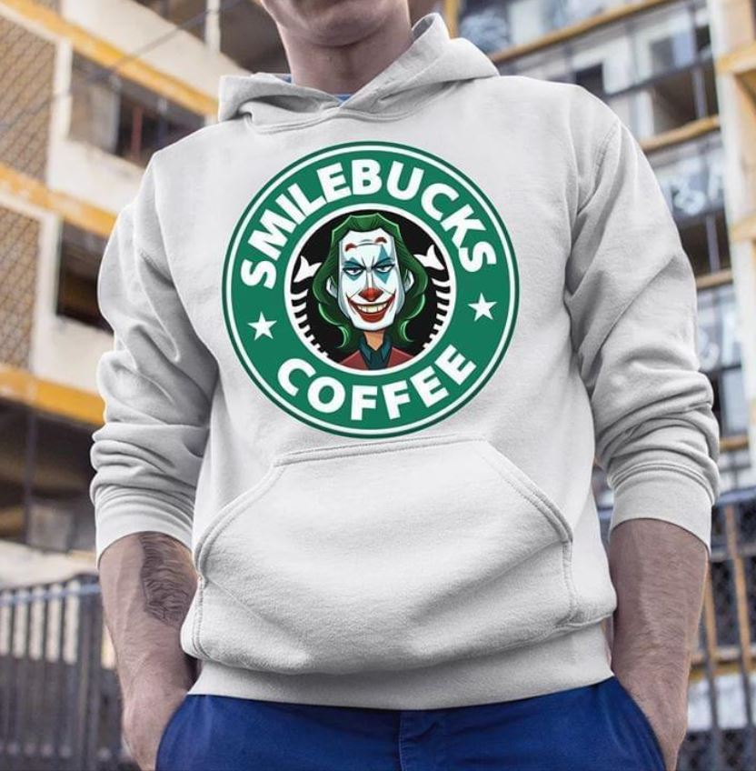 Smile bucks coffee Joker Starbucks shirt