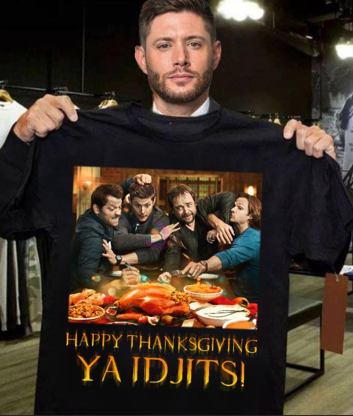 Supernatural happy thanksgiving ya Idjits t-shirt