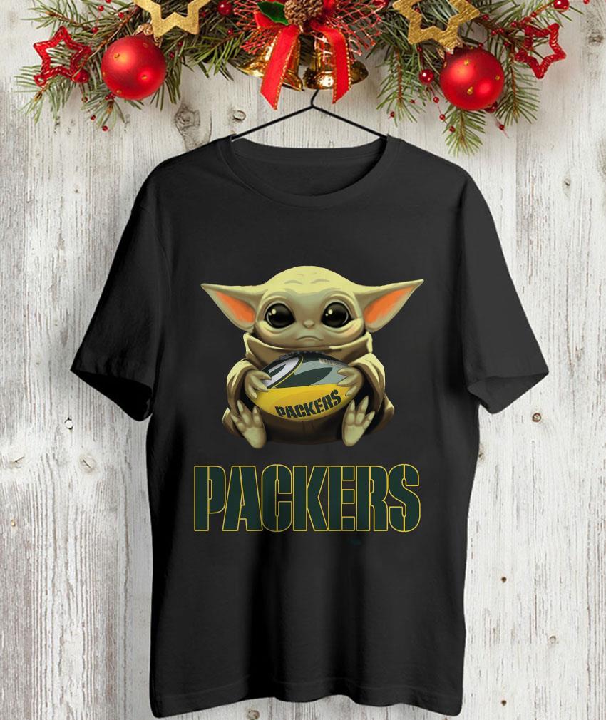 Baby Yoda Hug Green Bay Packers T Shirt Camaelshirt American Trending Tees