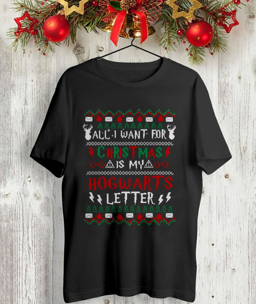 All I want for Christmas is my Hogwarts letter ugly t-shirt