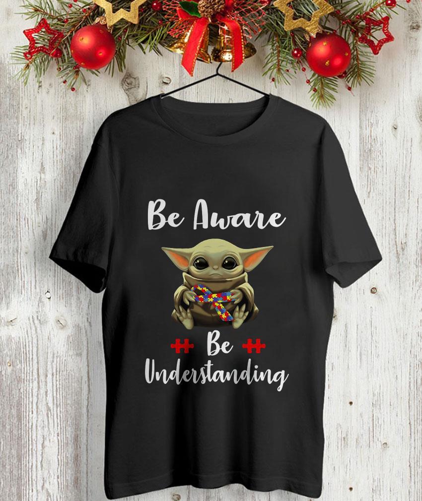 Baby Yoda autism be aware be understanding unisex-shirt