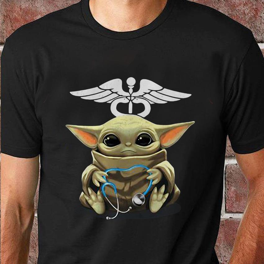 Baby Yoda hug stethoscope nurse unisex shirt
