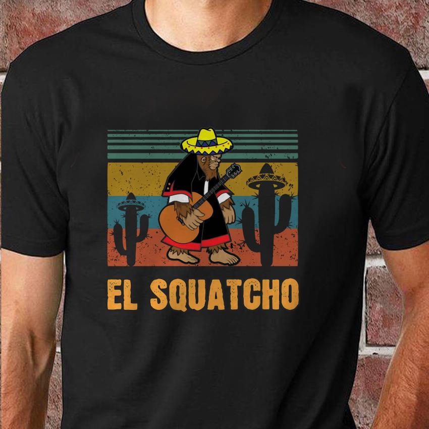 Bigfoot El Squatcho vintage retro t-shirt