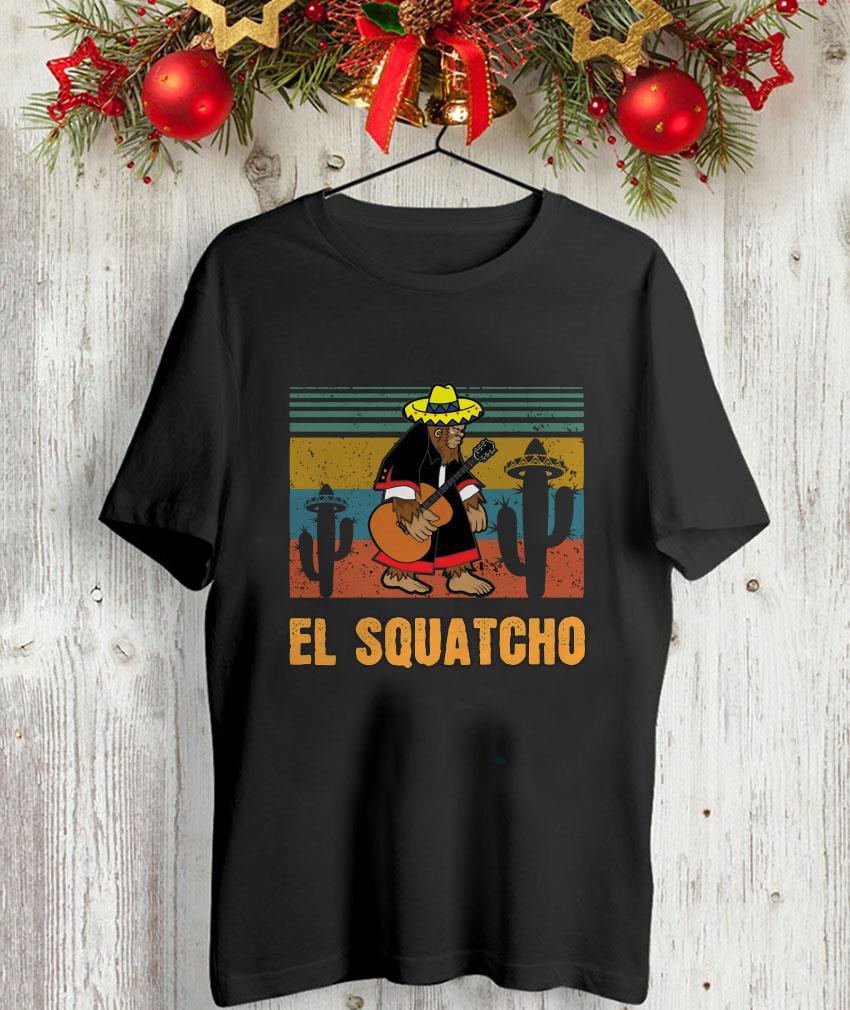 Bigfoot El Squatcho vintage retro unisex-shirt