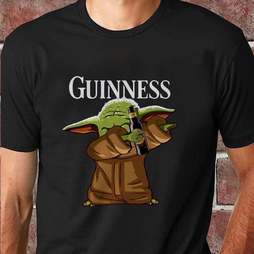 Dabbing baby Yoda loves Guinness t-shirt