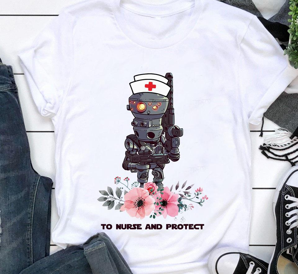 IG-11 the Mandalorian to nurse and protect t-shirt