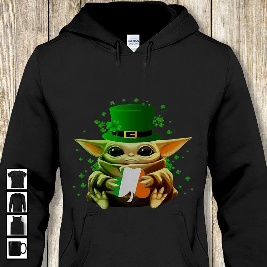 Irish Baby Yoda hug St Patricks day hoodie-shirt