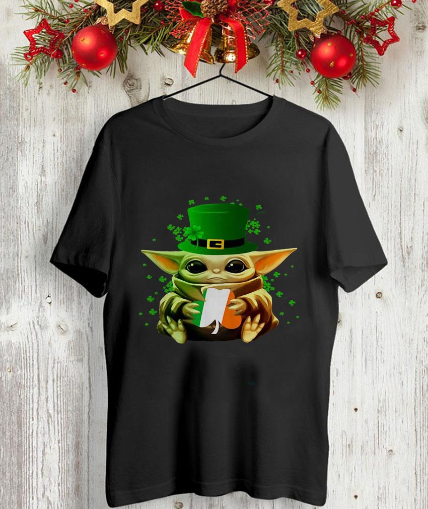 Irish Baby Yoda hug St Patricks day unisex-shirt