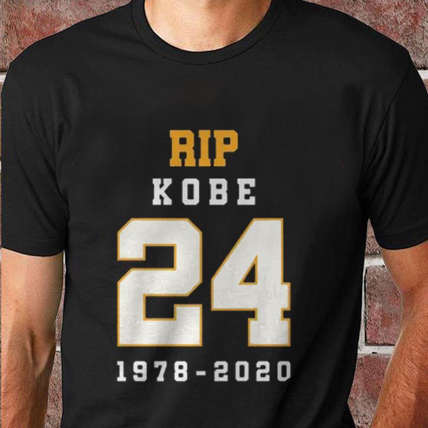 Kobe Bryant 24 memorial rest in Peace t-shirt