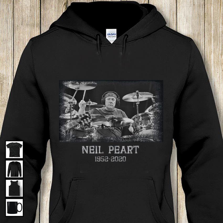 Memory Neil Peart 1952-2020 in loving drummer hoodie-shirt