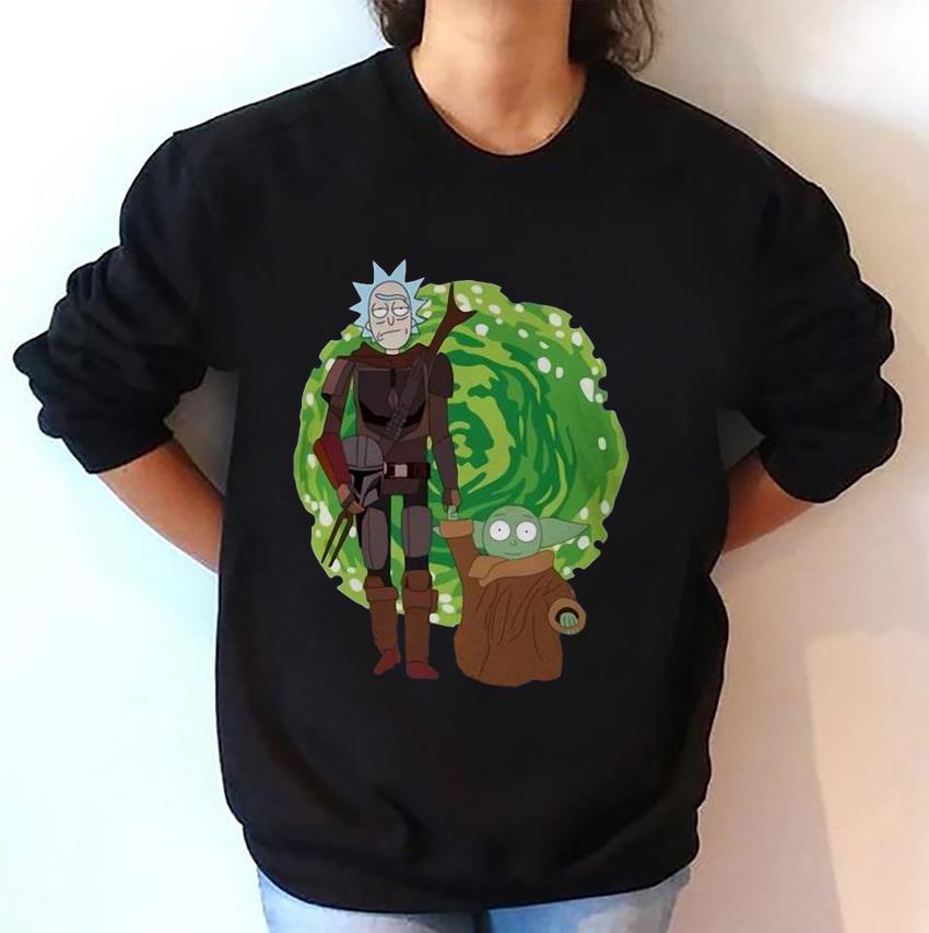 Rick and Morty the Mandalorian massup sweat-shirt