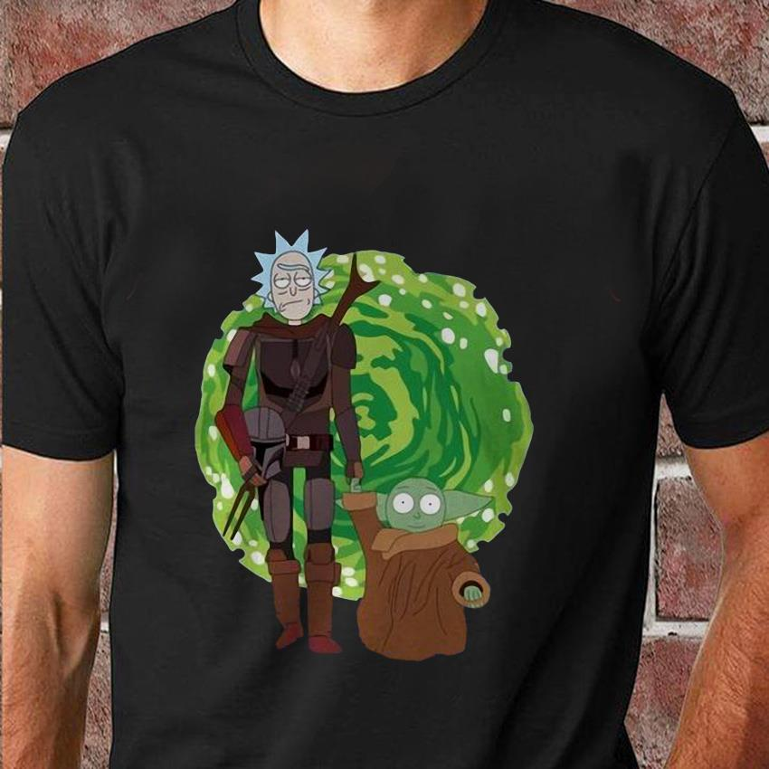 Rick and Morty the Mandalorian massup t-shirt