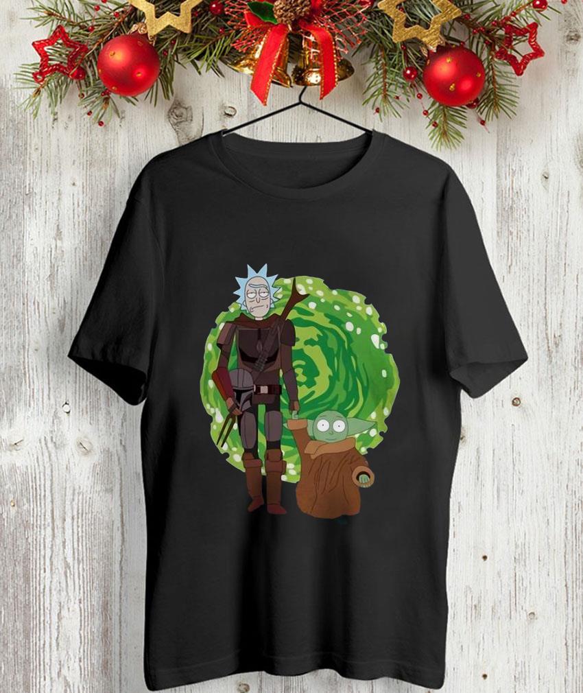 Rick and Morty the Mandalorian massup unisex-shirt
