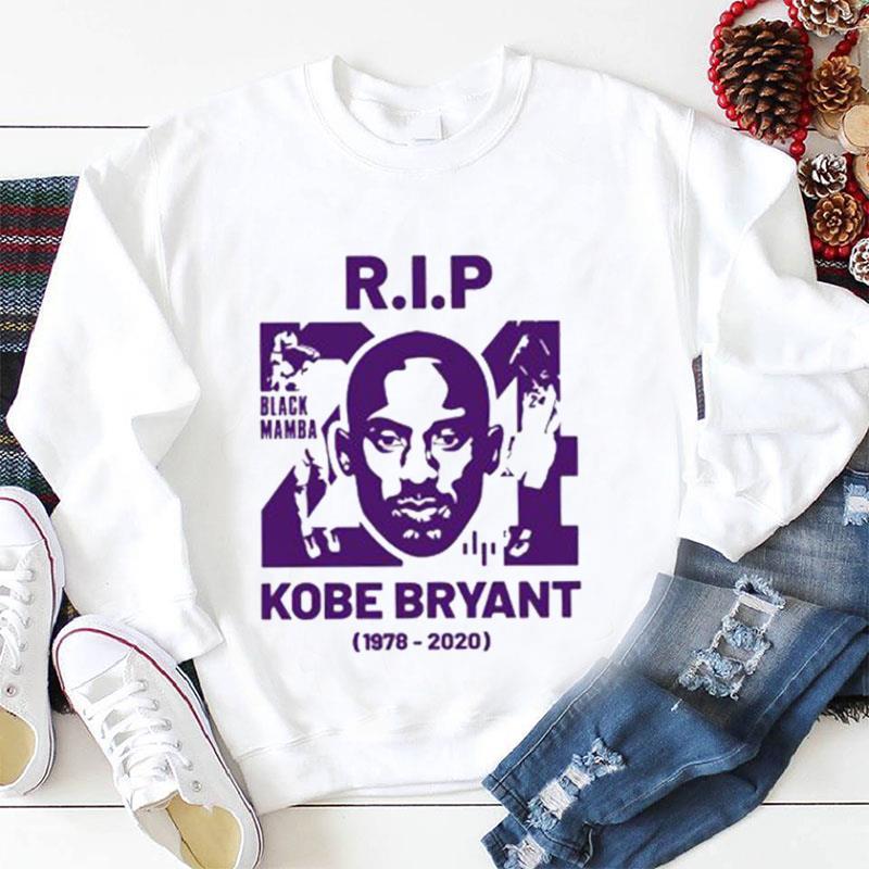 RIP 24 Kobe Bryant Black Mamba 1978-2020 longsleeve-shirt
