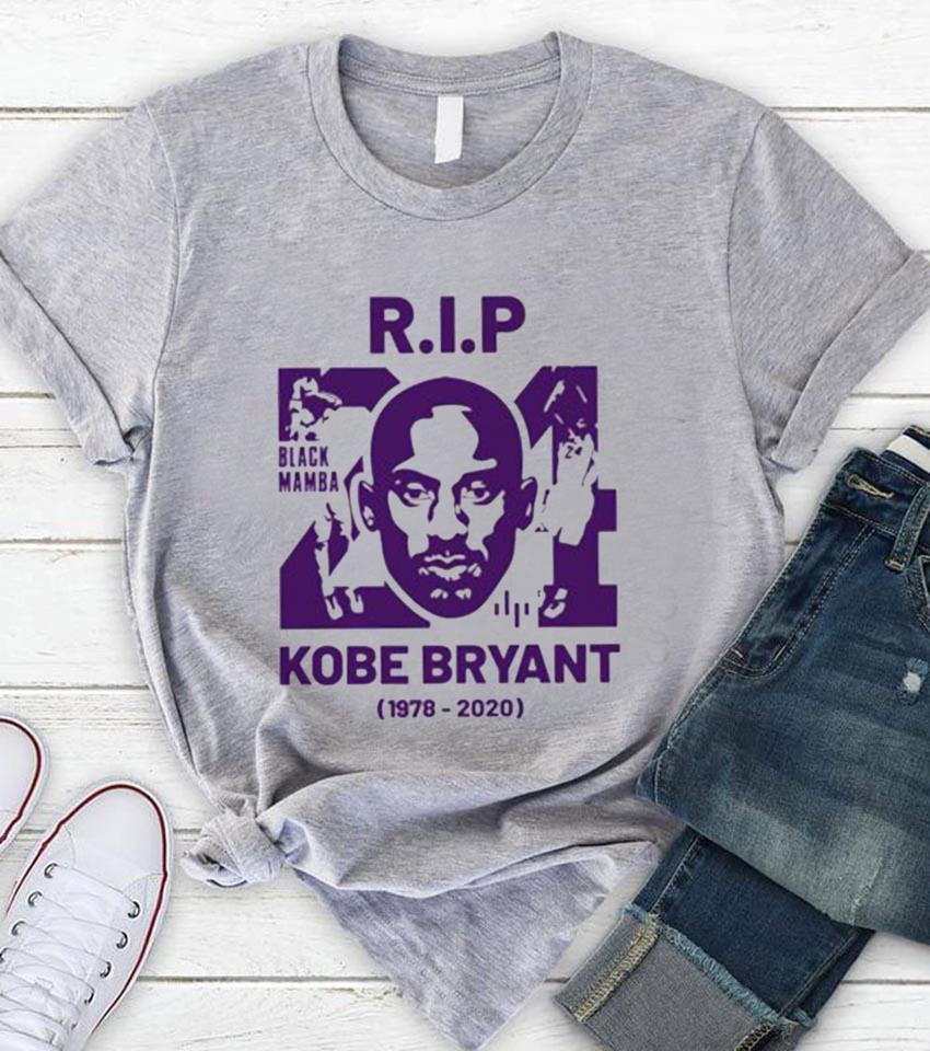 RIP 24 Kobe Bryant Black Mamba 1978-2020 unisex-shirt