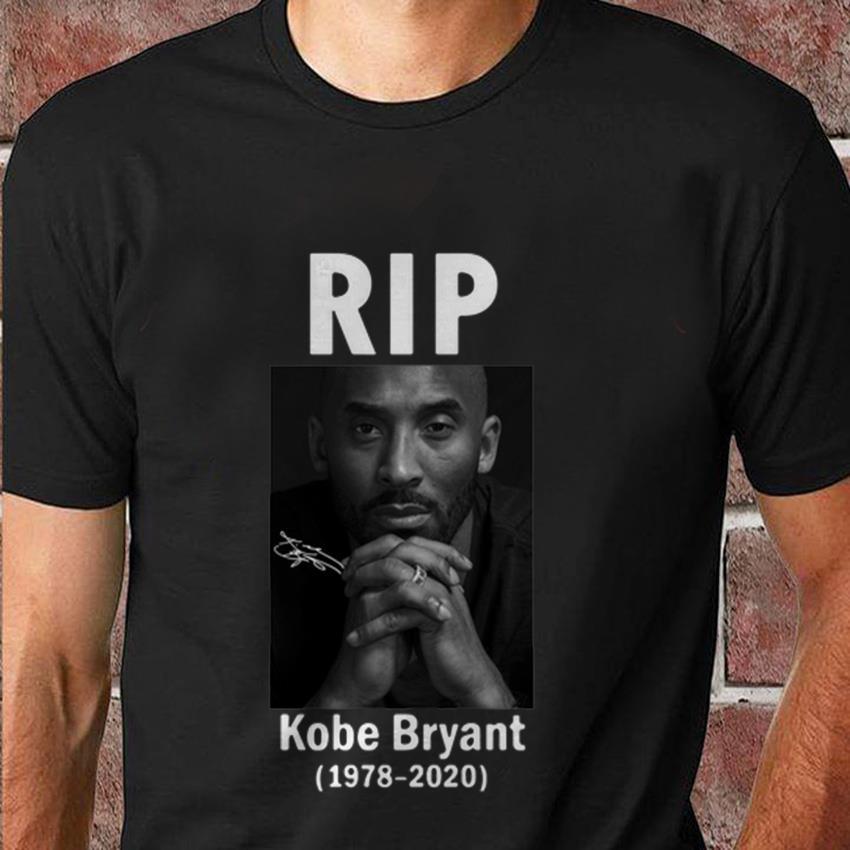 Rip Kobe Bryant 1978 2020 signature autograph t-shirt
