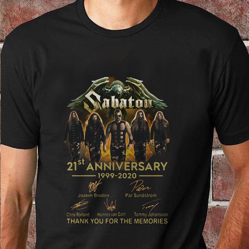 Sabaton 21st anniversary 1999 2020 signed t-shirt