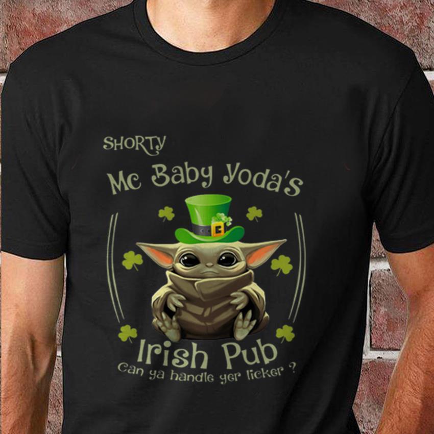 Shorty mc baby Yoda Irish pub t-shirt