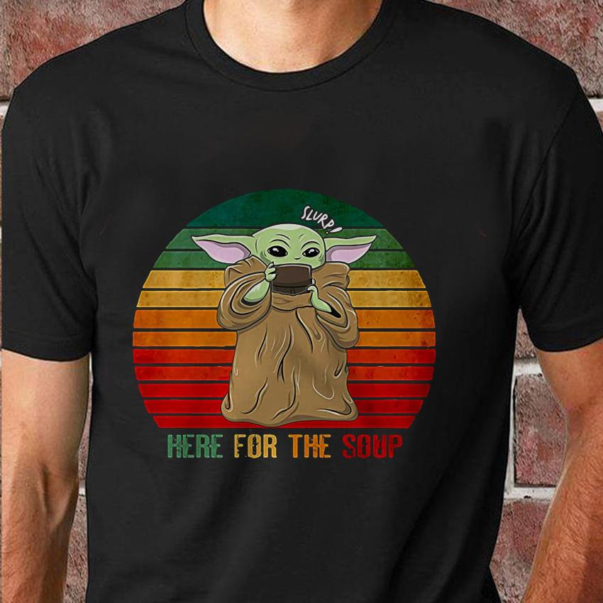 The mandalorian Baby Yoda here for the soup vintage t-shirt