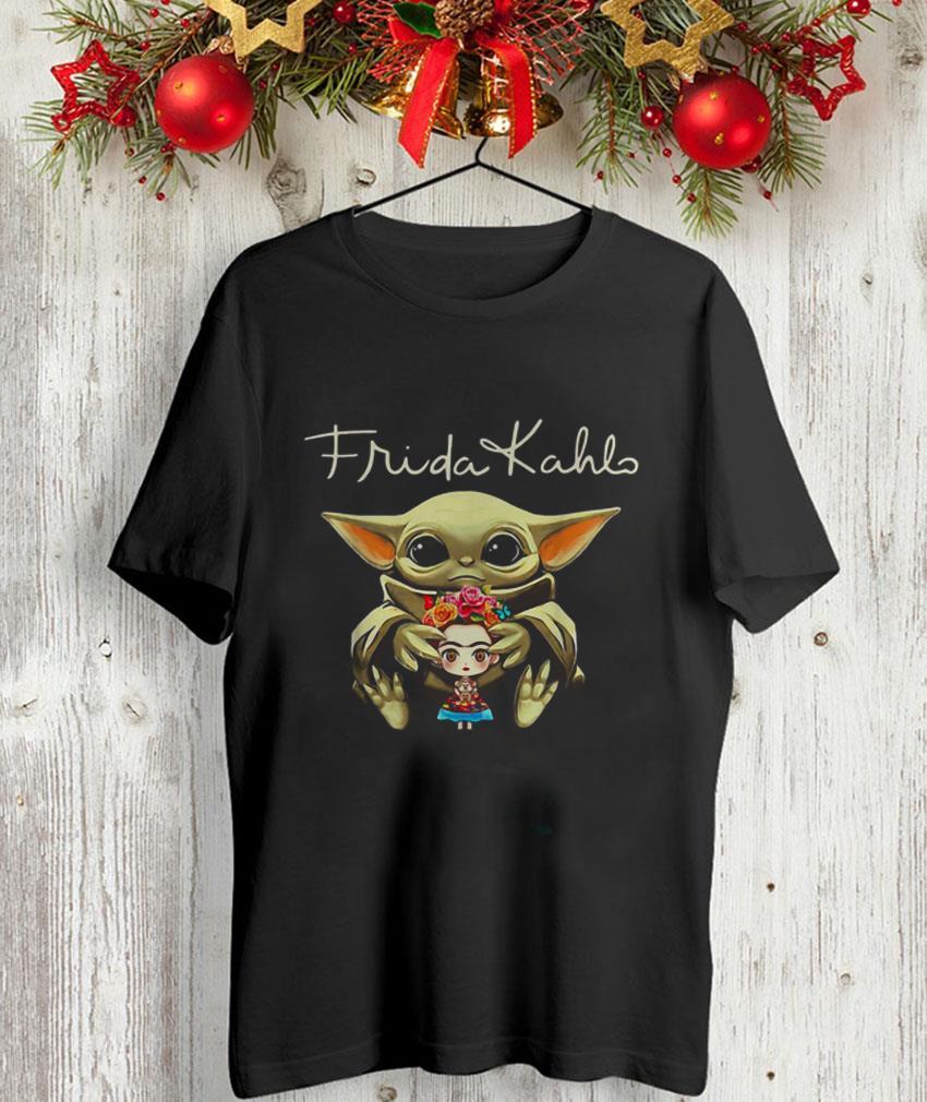The Mandalorian Baby Yoda hug Frida Kahlo unisex-shirt