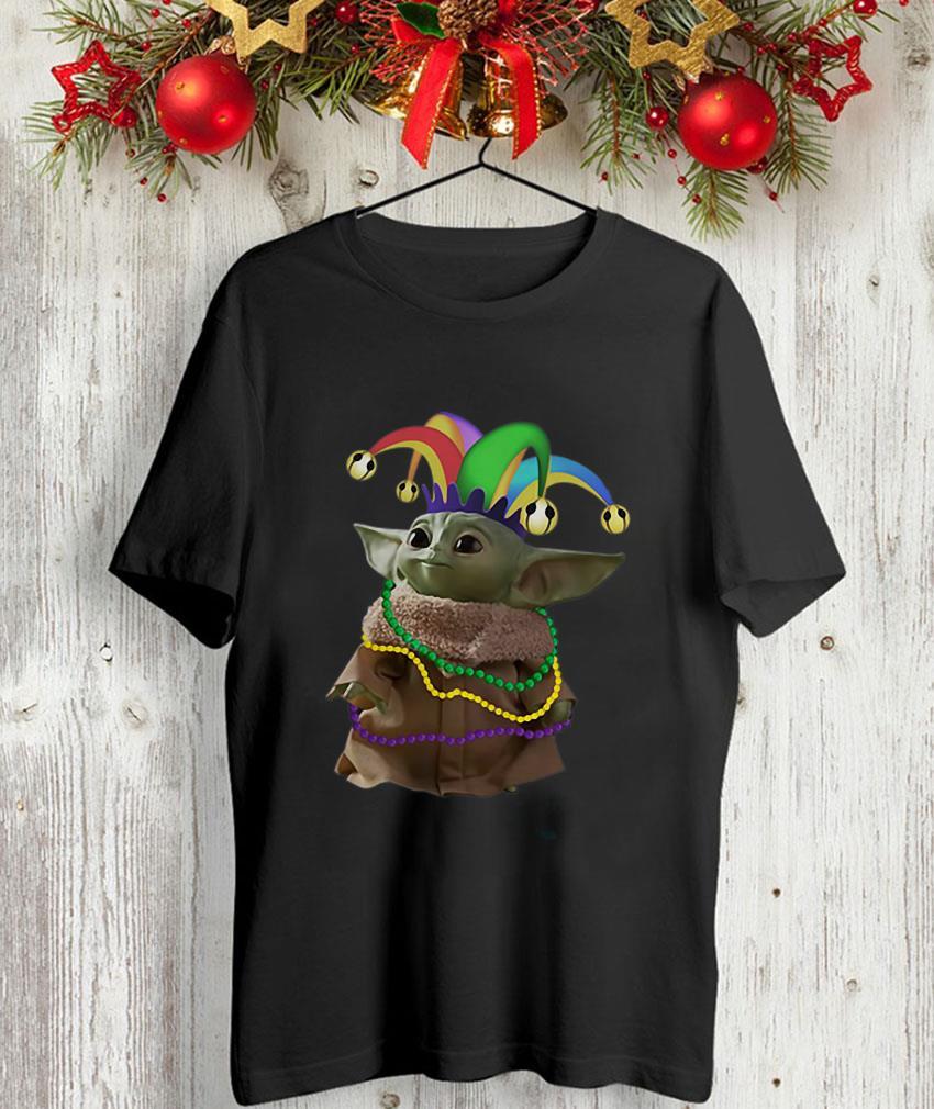 The Mandalorian Baby Yoda Mardi Gras unisex-shirt