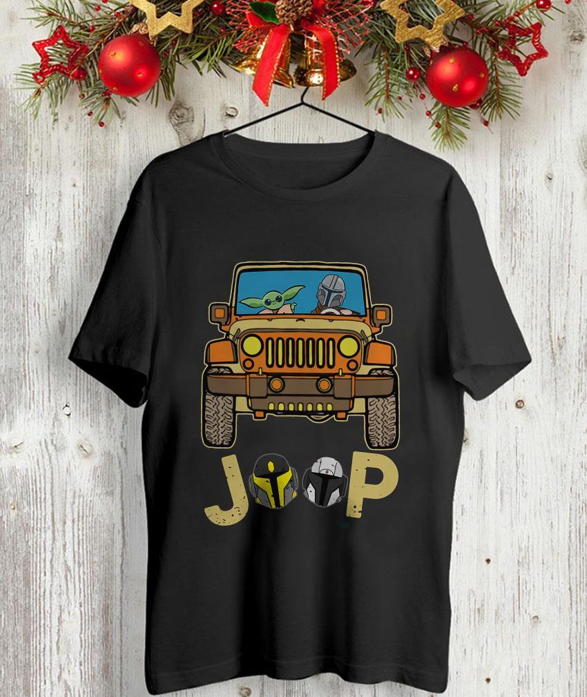 The Mandalorian drives Jeep baby Yoda unisex-shirt