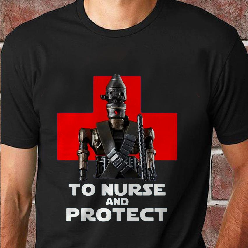To nurse and protect IG-11 the Mandalorian Star Wars t-shirt