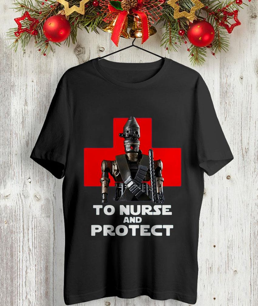 To nurse and protect IG-11 the Mandalorian Star Wars unisex-shirt