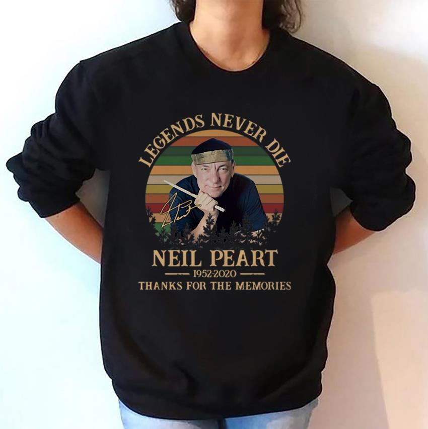 Vintage Neil Peart legends never die thank you for the memories sweat-shirt