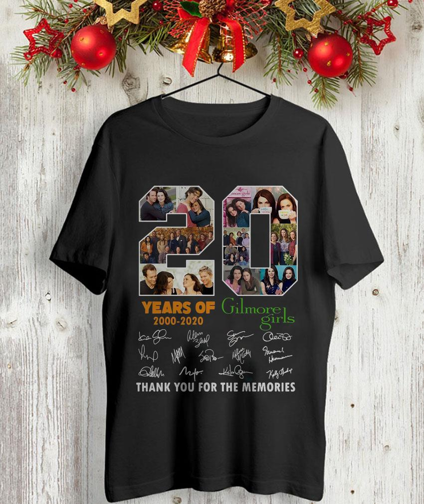 20 years of Gilmore Girl thank you for the memories t-shirt
