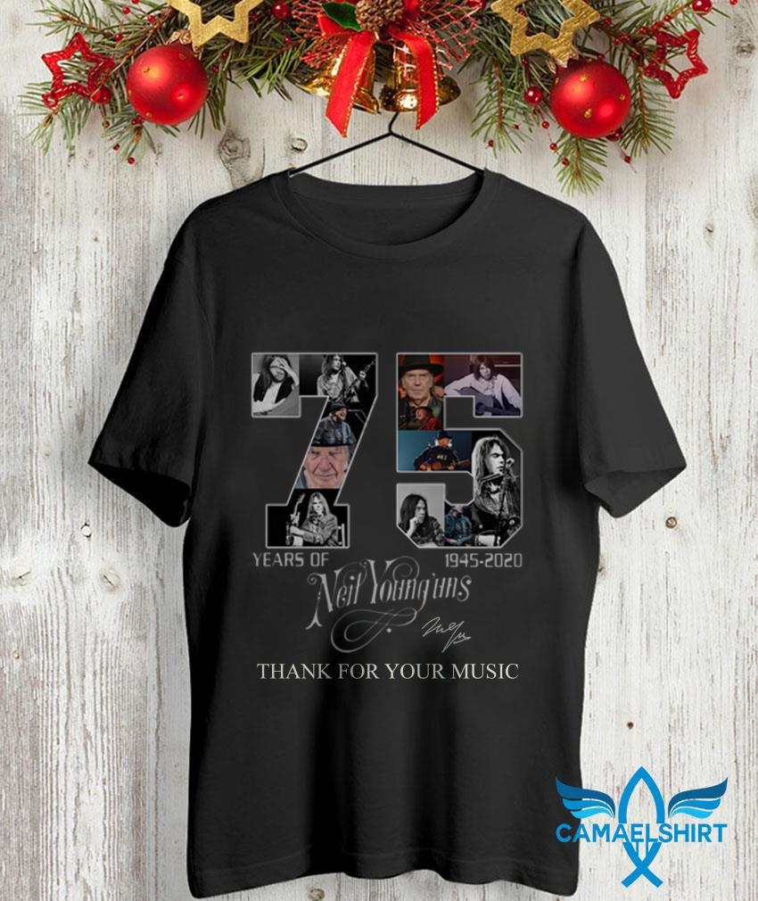 75 Years off Neil Younguns 1945 2020 signature t-shirt