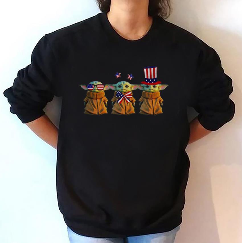 Baby Yoda American Patriot day sweatshirt