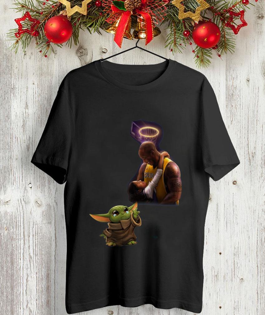 Baby Yoda Crying Kobe Bryant memories t-shirt