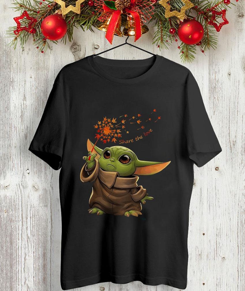 Baby Yoda hand sign share the love unisex t-shirt