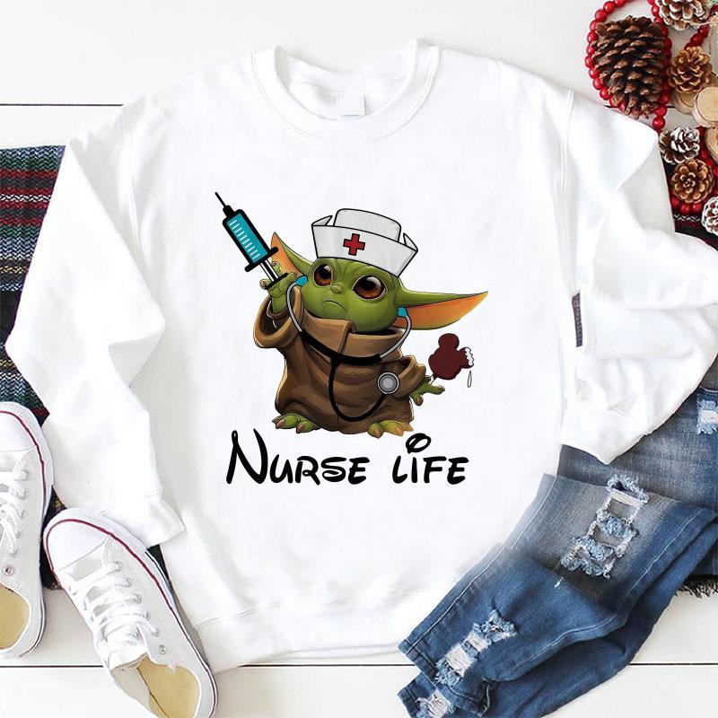 Baby Yoda nurse life sweat-shirt