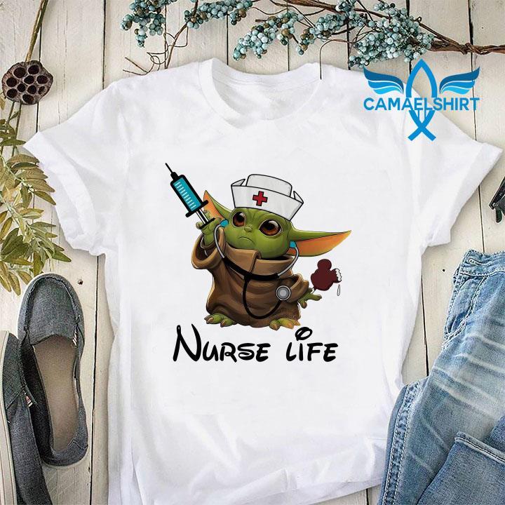 Baby Yoda nurse life unisex-shirt