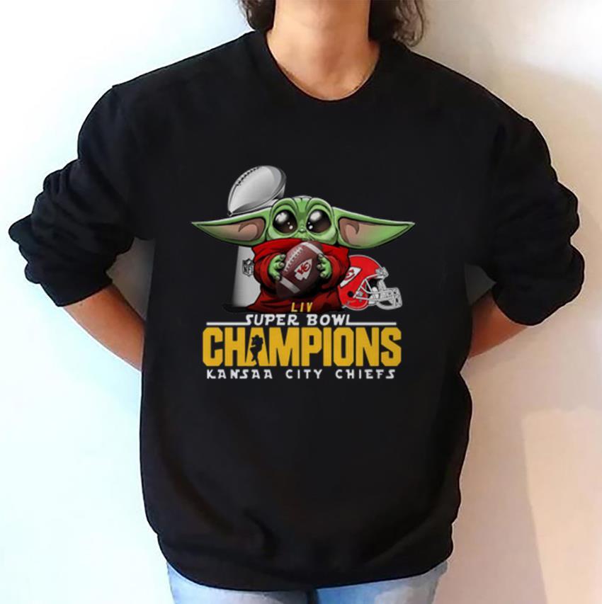 Baby Yoda Super Bowl Champions Kansas City Chiefs sweatshirt