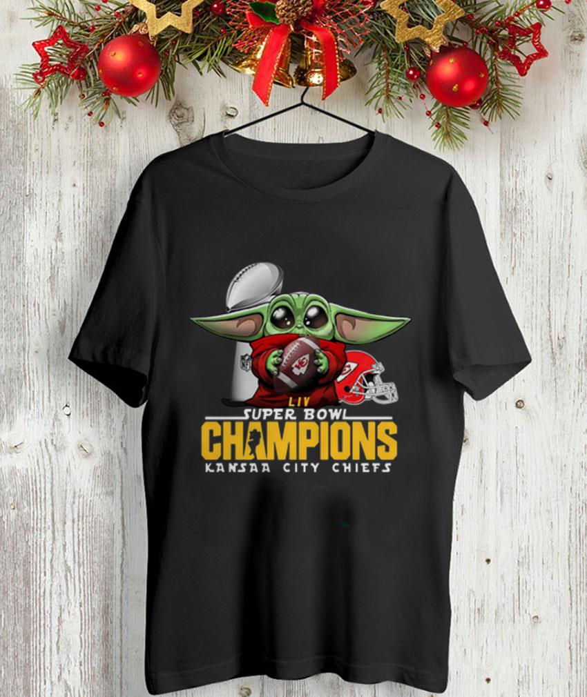 Baby Yoda Super Bowl Champions Kansas City Chiefs unisex t-shirt